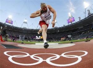 Poland's Tomasz Majewski competes in men's shot put final at London 2012 Olympic Games