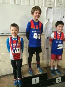 James Rochford  2nd in boys 300 m u9
