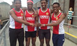 Relay Record for Ennis Track Stars