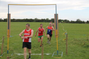 Finishing line at Clare's XC